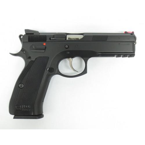 CZ 75 SP-01 Shadow Line Semi-auto 4.5'', Black steel frame, black aluminum?>