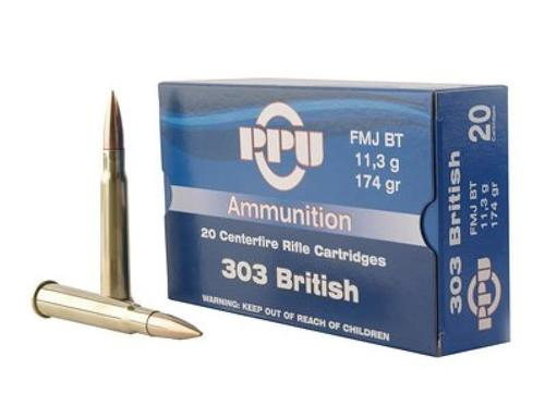 PPU 303 BRITISH FMJBT 174GR 20RS/BOX?>