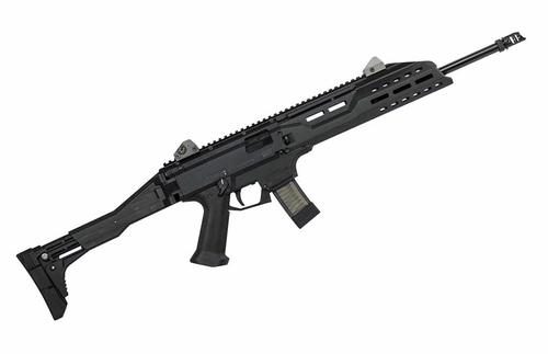 CZ  Scorpion Evo 3 S1 Semi-Auto Tactical Pistol 9MM 18.6'' BBL 5 RS  Low Profile Sight Black?>