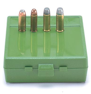 MTM 64 Rd Stackable Handgun Ammo Box, 50 AE, Green?>