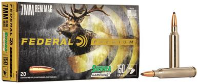 Federal Sierra GameKing 7mm Rem Mag, 150 Gr, BTSP, 20 Rds?>