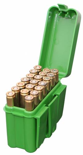 MTM 20 Round Flip Top Large Rifle Belt Box, Green?>