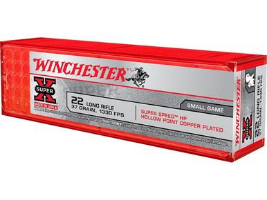 Winchester Super-X 22LR 37gr Plated Hollow Point, Box of 100?>