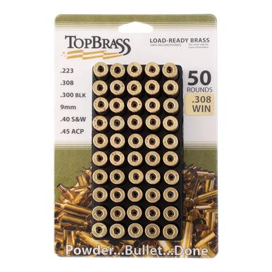 Top Brass Prem Reconditioned, Unprimed 308 Win Brass, 50 Ct?>