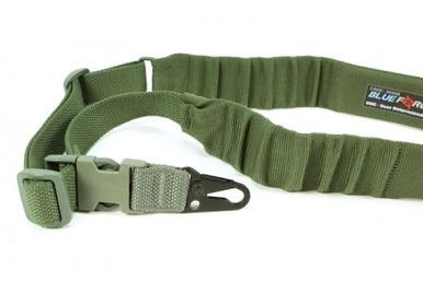 BFG UDC Padded Bungee Single Point Sling, Snap Hook, OD Green?>