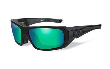 Wiley X ENZO POL EMERALD MIRROR LENS / MATTE BLACK FRAME?>