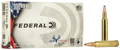 Federal Non Typical 300 Win Mag 180 Gr, SP, 20 Rds?>