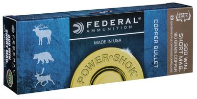 Federal Copper Power Shok 300 Win Short Mag, 180 Gr, 20 rds?>