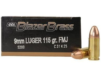 CCI Blazer Brass Case 9mm Luger 115gr FMJ Case of 1000?>
