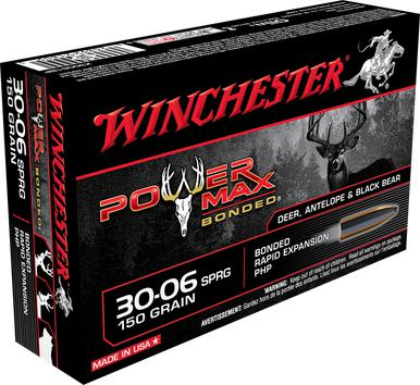 Winchester Power Max Bonded 30-06 SPRG, 150 Gr, PHP, 20 Rds?>