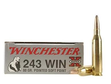 Winchester 243 Win 80gr Pointed Soft Point, Box of 20?>