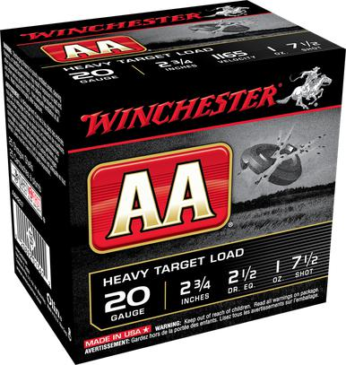 "Winchester AA Heavy Load 20 Ga, 2 3/4"", 1 Oz, #7.5, 250 Rds?>"