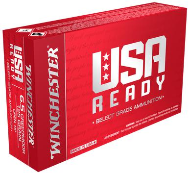 Winchester USA Ready 6.5 Creedmoor, 125 Gr, FMJOT, 20 Rds?>