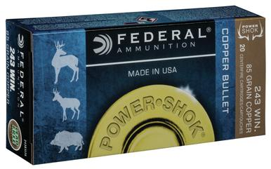 Federal Copper Power Shok .243 Win 85 Gr, 20 Rds?>