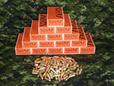 Wolf 40 S&W 180gr TMJ, Lead Free Primers, 250 rounds.?>