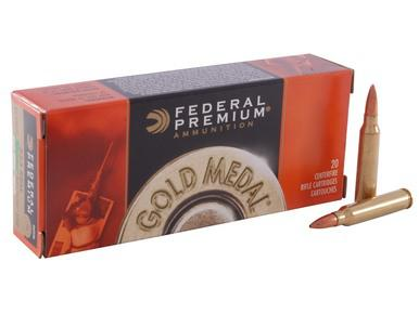 Federal Premium Gold Medal 223 Rem 69gr BTHP Match, Box of 20?>