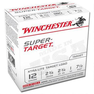 "Winchester Super Target 12 Ga 2 3/4"", 1 Oz #7.5 Lead, 25 Rounds?>"