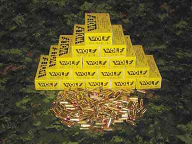 Wolf 9mm, 124gr TMJ, Lead Free Primers, 250 Rounds?>