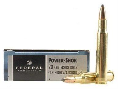 Federal Power-Shok 30-06 SPRG, 125gr SP, Box of 20?>