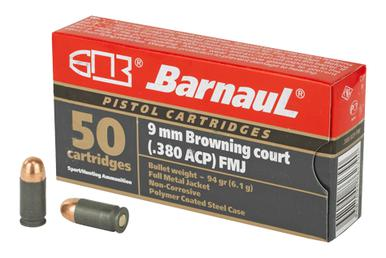 Barnaul 9mm Browning (.380 ACP) 94 Gr, FMJ Poly Coated, 50 Rds?>