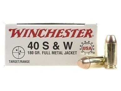 Winchester USA 40 S&W 180gr FMJ, Box of 50?>