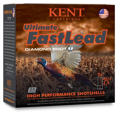 "Kent Ultimate Fast Lead 12 Ga, 3"", 1 3/4 Oz, #4, 25 Rds?>"