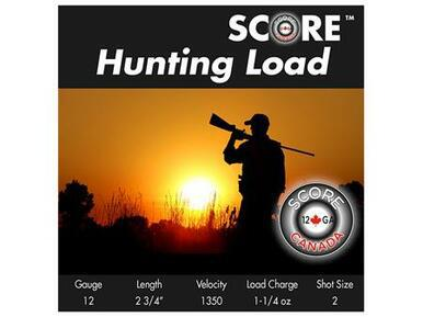 "Score 12 Ga 2 3/4"" 1350 FPS 1 1/4oz #6 Lead Hunting Load, 25 rds?>"