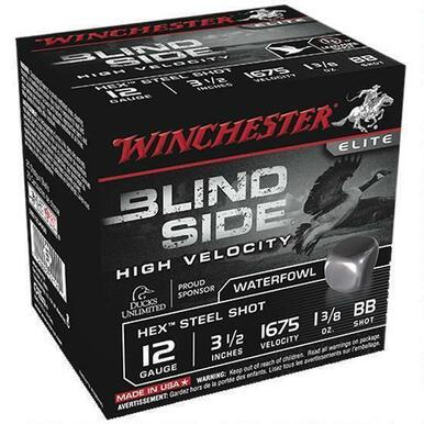 "Winchester Blind Side 12 Ga 3.5"" BB Hex Steel 25 Rds?>"