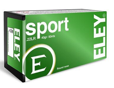 Eley Sport 22lr, 40gr Round Nose, Box of 50?>