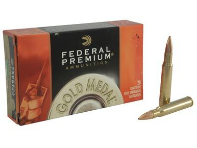 Federal Premium Gold Medal 30-06 SPRG, 168gr BTHP, Box of 20?>