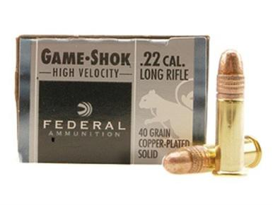 Federal Game-Shok 22LR HV, 40gr Plated, 50 Rds?>