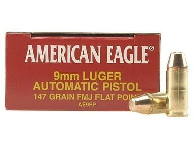 American Eagle 9mm, 147gr FMJ FP, 50 Rounds?>