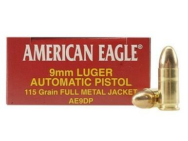 American Eagle 9mm, 115gr FMJ, 500 Rounds?>