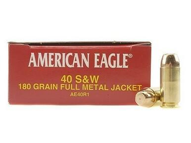 American Eagle 40 S&W, 180gr FMJ, 500 Rounds?>