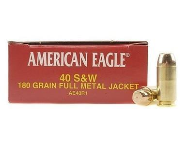 American Eagle 40 S&W, 180gr FMJ, 1000 Rounds?>