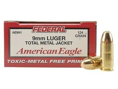 American Eagle 9mm, 124gr TMJ, 500 Rounds?>