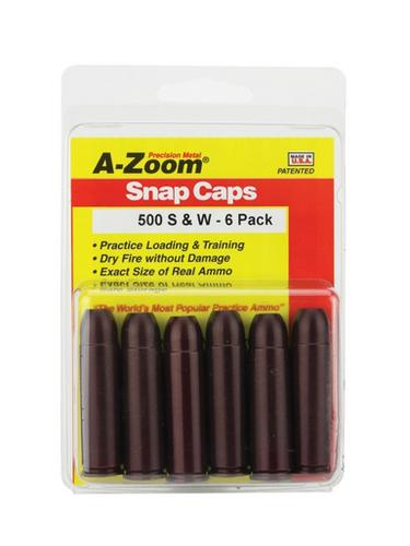 A-Zoom 500 S&W Snap Caps, 6 Pk?>
