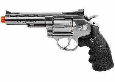 "ASG Dan Wesson 4"" Barrel, CO2 Airsoft Revolver, Silver?>"