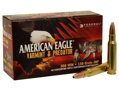 American Eagle Varmint 308 WIN, 130gr Hollow Point, Box of 40?>
