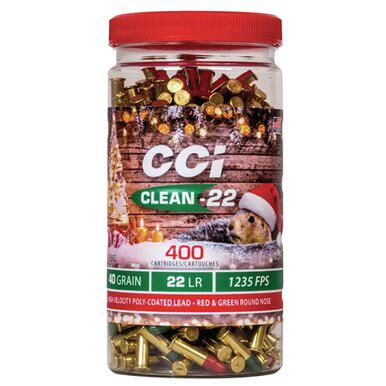 CCI Holiday Clean 22 LR, 40 Gr, HV Red/Green, 400 Rds?>
