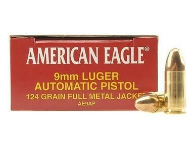American Eagle 9mm, 124gr FMJ, 50 Rounds?>