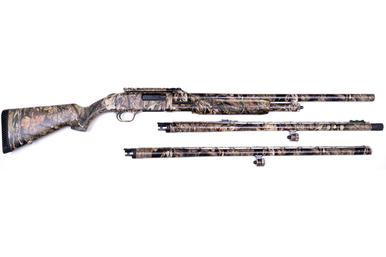 Mossberg 500 12 Ga, 3 Barrel Combo in Camo?>