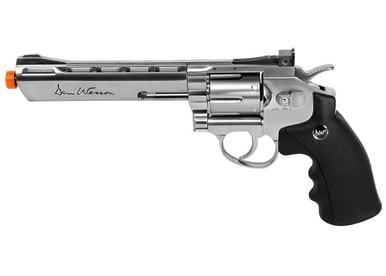 "ASG Dan Wesson 6"" Barrel, CO2 Airsoft Revolver, Silver?>"