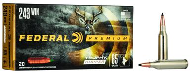 Federal Trophy Copper .243 Win, 85 Gr, 20 Rds?>