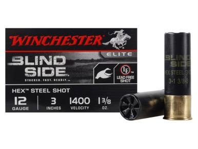 "Winchester Blind Side 12ga 3"" 1-3/8 oz #3 Steel, Box of 25?>"