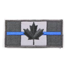 Canada Flag Velcro Morale Patch with Thin Blue Line?>