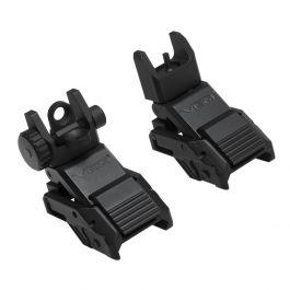 NcSTAR Picatinny Pro Series Flip-Up Front and Rear Sights (Combo)?>