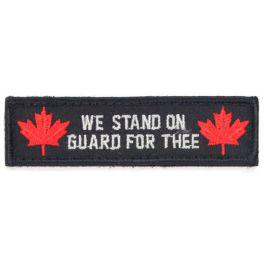 "Canada ""We Stand on Guard for Thee"" Velcro Morale Patch with Maple Leafs?>"