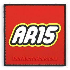 """AR-15"" Building Toy PVC Patch w/Velcro?>"