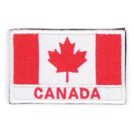 "Canadian Flag Velcro Morale Patch with ""Canada"" Text?>"